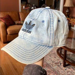 Denim Adidas baseball hat
